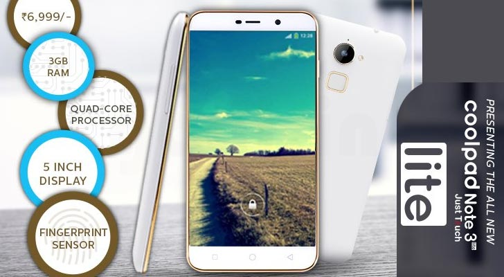 Coolpad Note 3 Lite flash sale starts at 2 PM - Android Junglee
