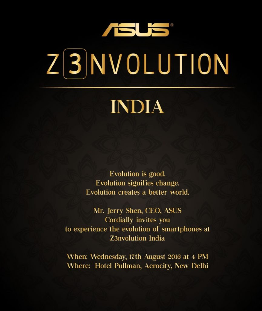 Asus To Launch Zenfone 3 Series On August 17th
