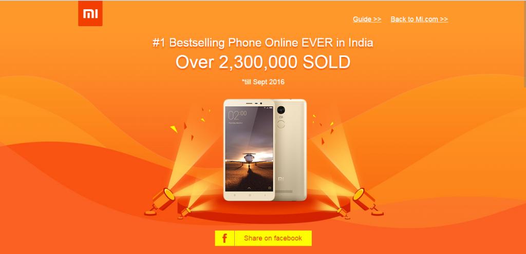 Xiaomi Redmi Note 3 Sales Crosses 2 3 Million Units - Android Junglee
